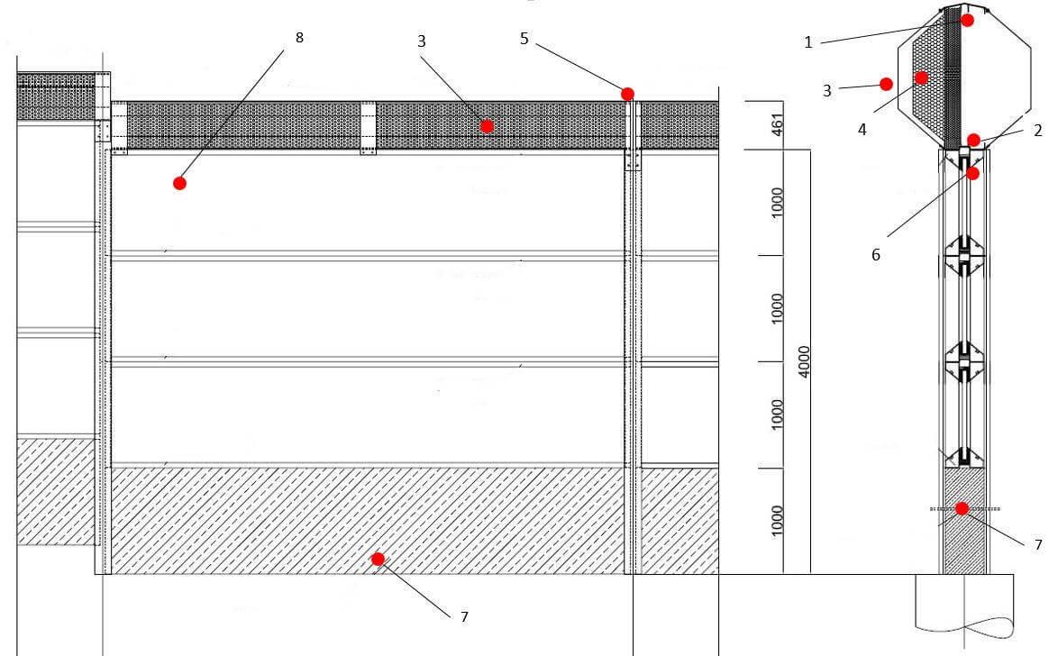 Akustički apsorberi Oktagon - montaža