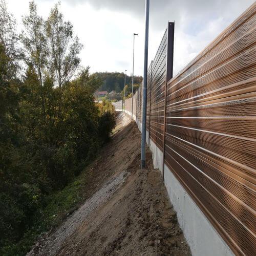 Aluminijska ograda protiv buke Višnja Gora