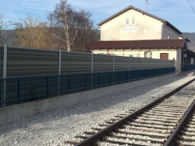 Aluminijska zaštita od buke naželjeznici Koper Divača