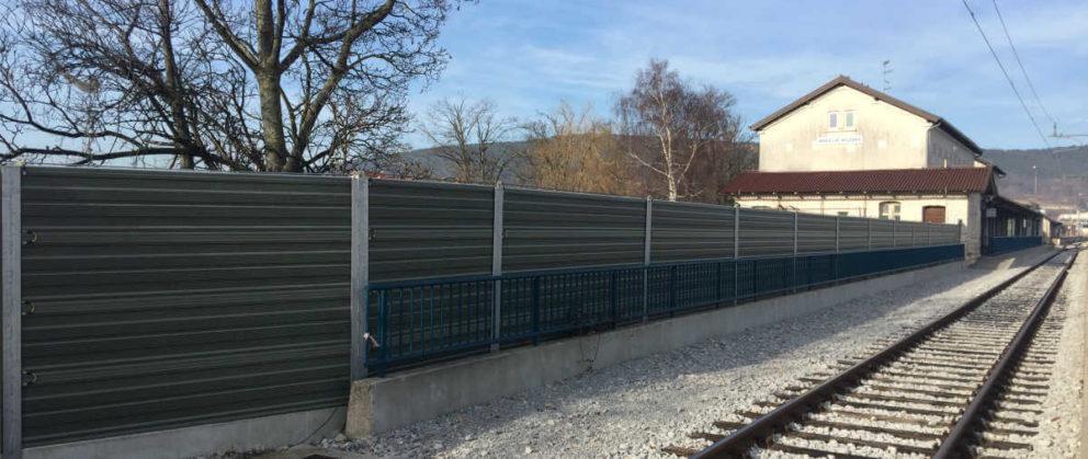 Aluminijske ograde za zaštitu od buke pruga Koper Divača