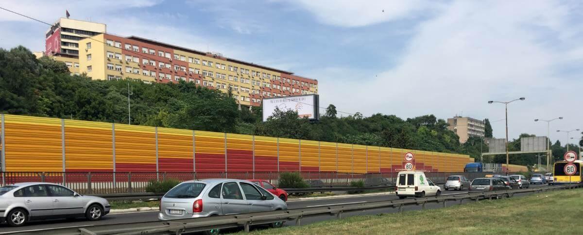 Aluminijski zidovi za zaštitu od buke - Hitna pomoč Beograd