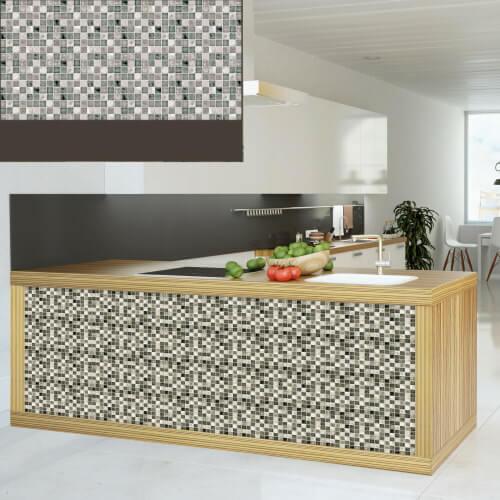 Dekorativna zidna obloga mozaik siva u kuhinji