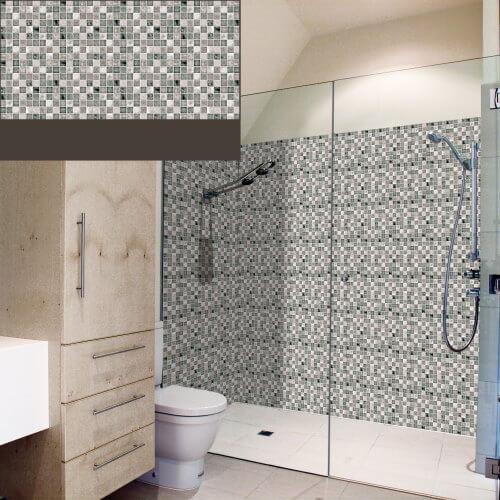 Dekorativne zidne obloge Plastonda decor mozaik siva