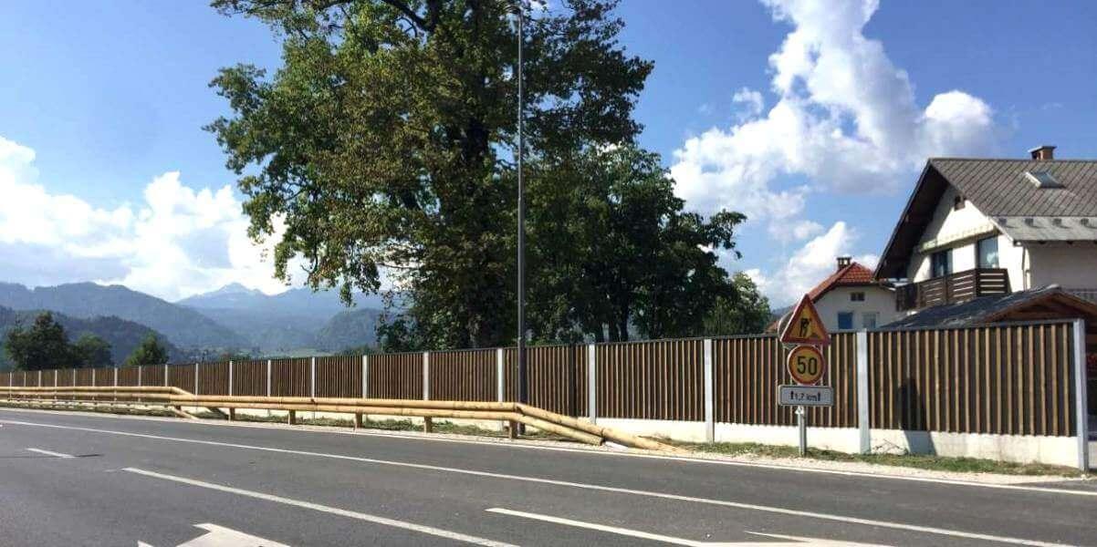 Drvena ograda protiv buke Bled Slovenija