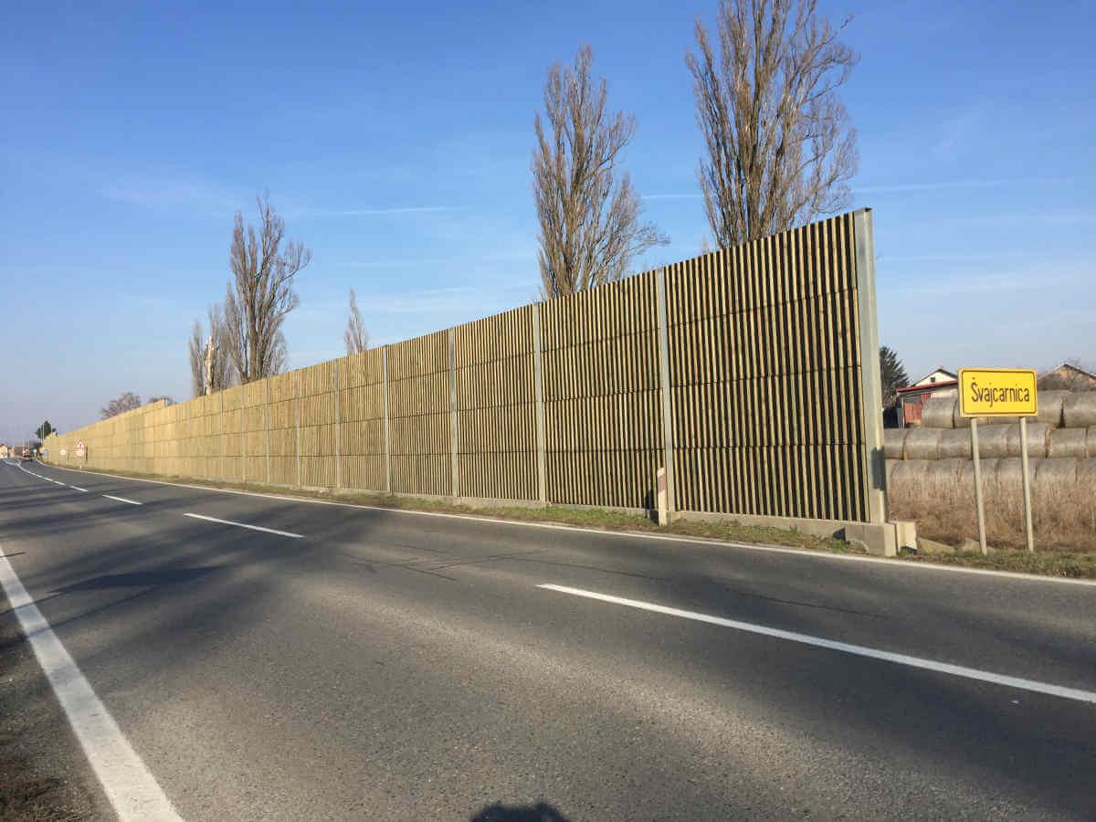 DRvena ograda protiv buke Švajcarnica-Osijek
