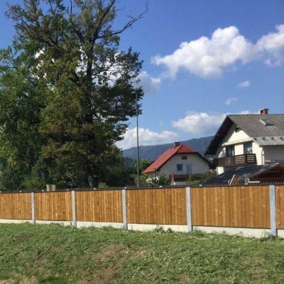 Drvena ograda za zaštitu od buke Bled