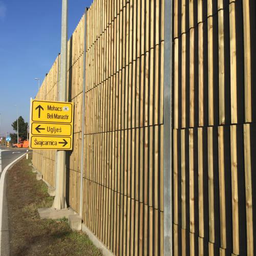 Drveni paneli za zaštitu od buke WS1 Švajcarnica Osijek
