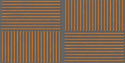 Slaganje drvenih panela protiv buke-dekorativne letvice horizontalno-vertikalno