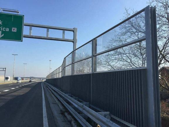 Ograda protiv buke na A1 Zagreb