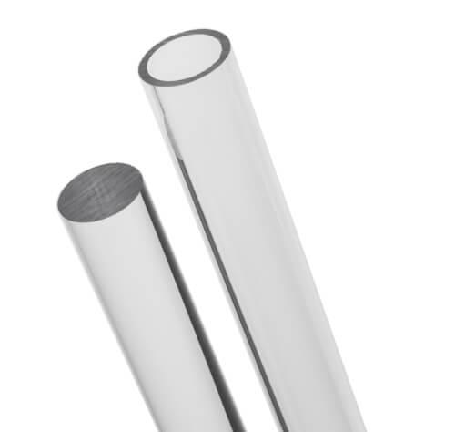 Prozirne akrilne cijevi i štapovi