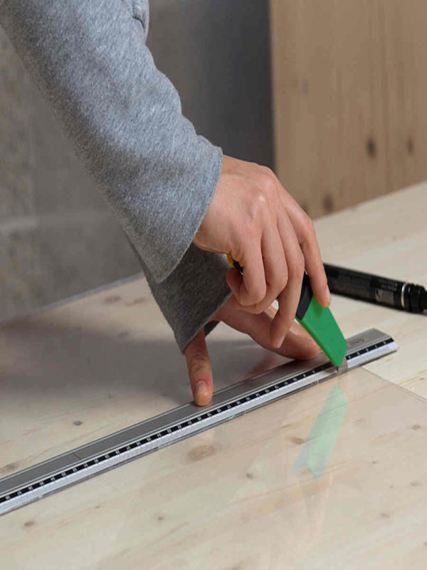 Rezanje ploča Poliver Basterglas s nožem Policutter