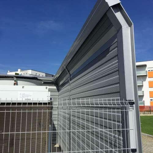 Rupićasti paneli protiv buke klima uređaja Lidl Čakovec
