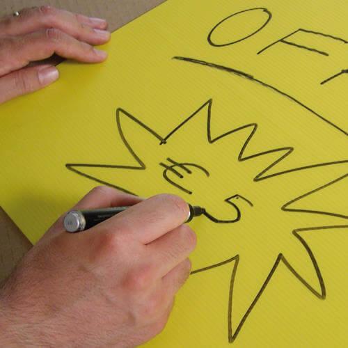 Sačaste polipropilenske ploče Plastonda za ispis informacija