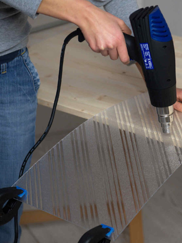 Savijanje polistirenskih ploča Poliver Basterglass vručim zrakom