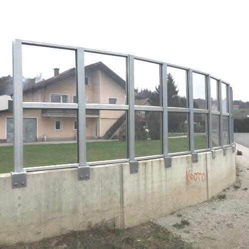 Transparentna barijera za zaštitu od buke Mestinje