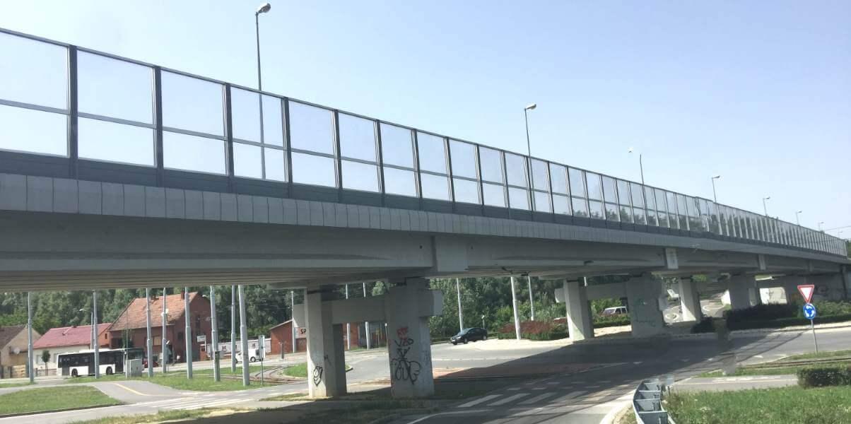 Transparentna ograda protiv buke Osijek