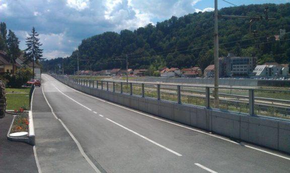 Transparentna ograda protiv buke reference Krško