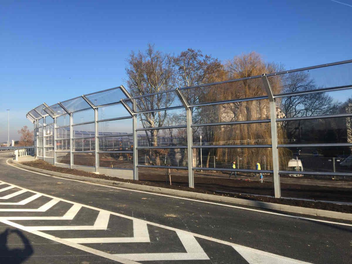 Transparentna ograda protiv buke rotor Remetinec Zagreb
