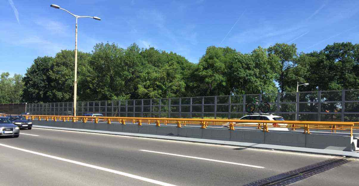 Transparentna ograda za zaštitu od buke - Bežanijska kosa Beograd