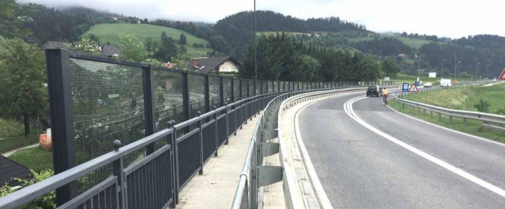 Transparentna zaštita protiv buke Muta Slovenija