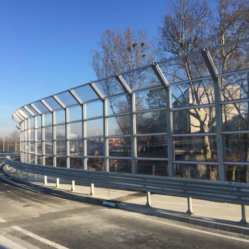 Transparentni paneli protiv buke rotor Remetinec Zagreb