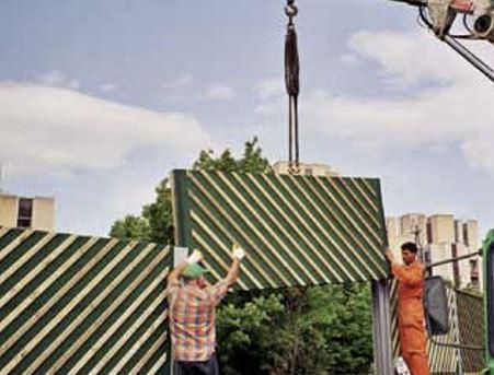 Ugradnja drvenih panela u ograde protiv buke