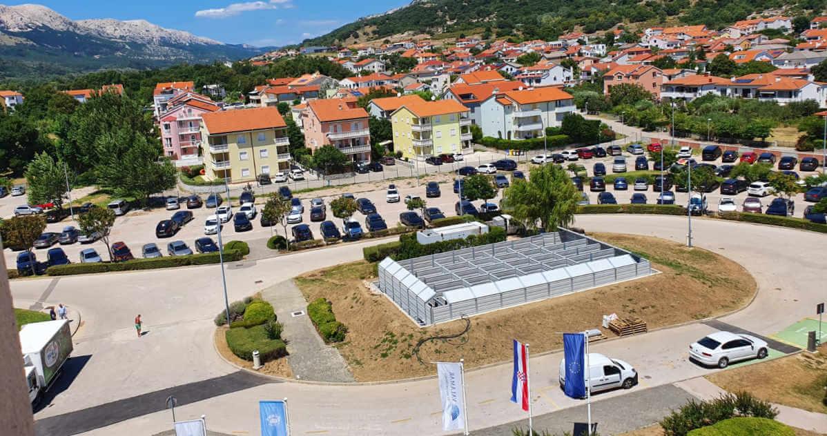 Zaštita od buke dizalica topline hotel Corinthia Krk