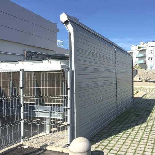 Zid za zaštitu od buke klima uređaja Lidl Čakovec