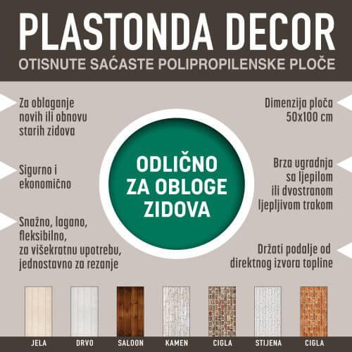 Zidne obloge Plastonda Decor osnovne informacije