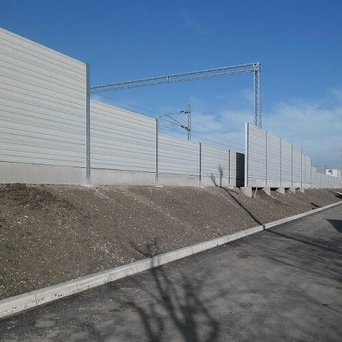 Zidovi za zaštitu od buke na željeznici Beograd Pančevo