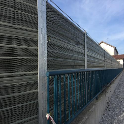 Zidovi za zaštitu od buke na željeznici Koper Divača