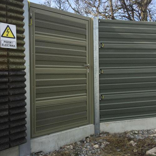 Zvučno apsorbirajuča vrata željeznica Koper Divača