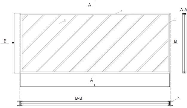 Transparentni panel za zaštitu od buke - nacrt