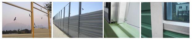 Kombinacije transparentnih i aluminijskih panela za zaštitu od buke